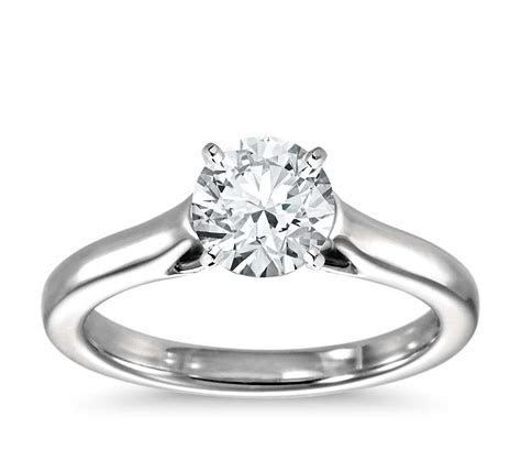 Trellis Solitaire Engagement Ring in Platinum   Blue Nile