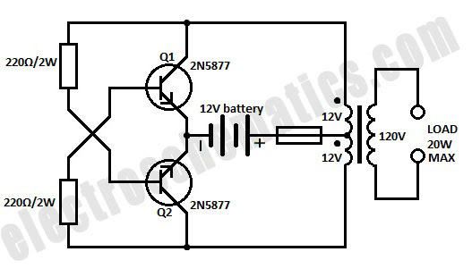 12v 220v inverter diagram