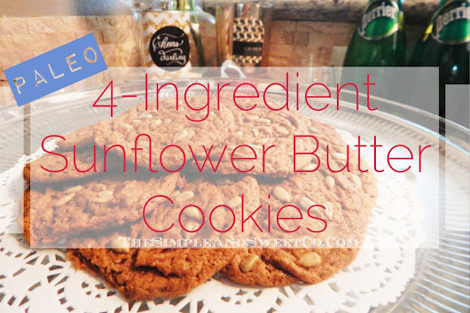 Paleo Sunflower Butter Cookies