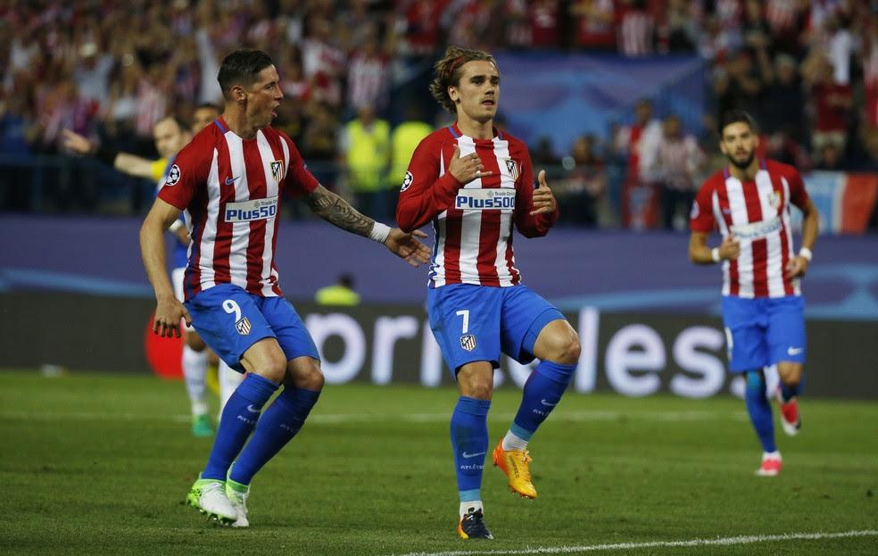 Griezmann levou o Atlético de Madrid à vitória sobre o Leicester na Espanha (Foto: Reuters)