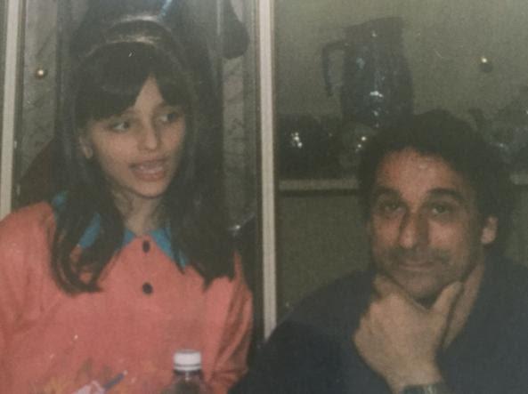 Maria Giulia con il padre Sergio in una foto d'infanzia (Foto Corriere della Sera)