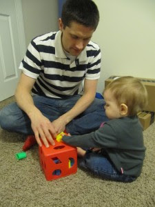 Just playing with daddy