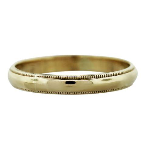 yellow gold dwt mens wedding band ring boca raton