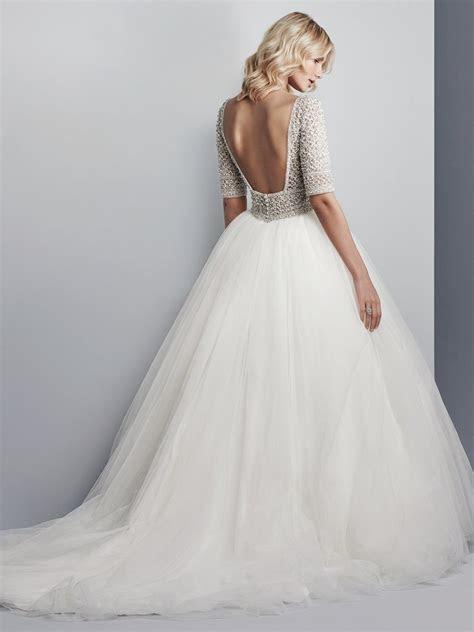 allen ss princess sleeved ballgown wedding dress
