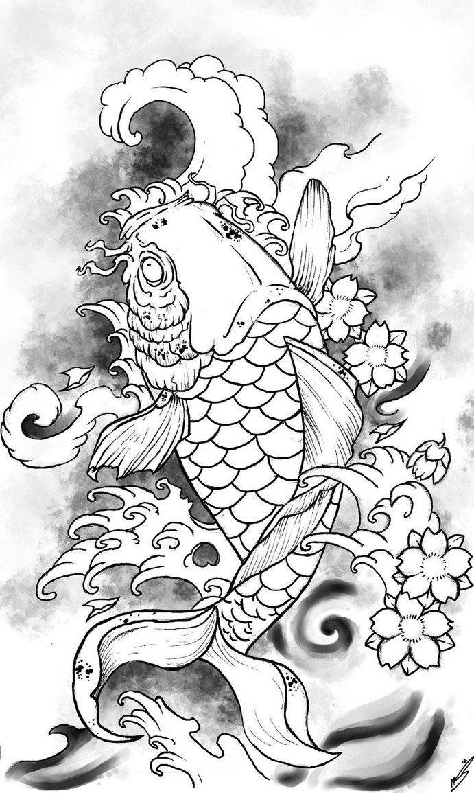 Coy Fish Coloring Pages - Coloring Home