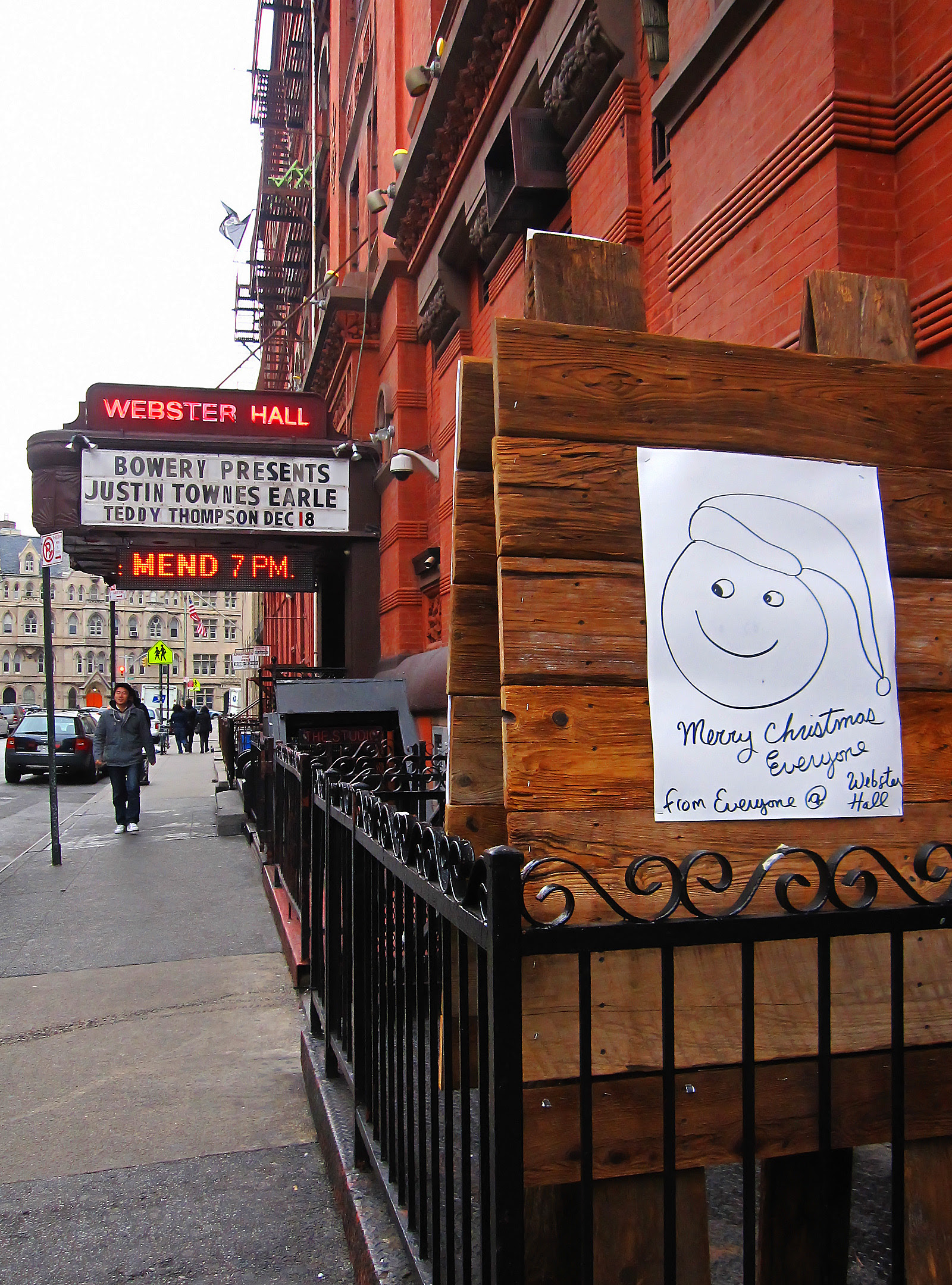 Merry Christmas from Webster Hall