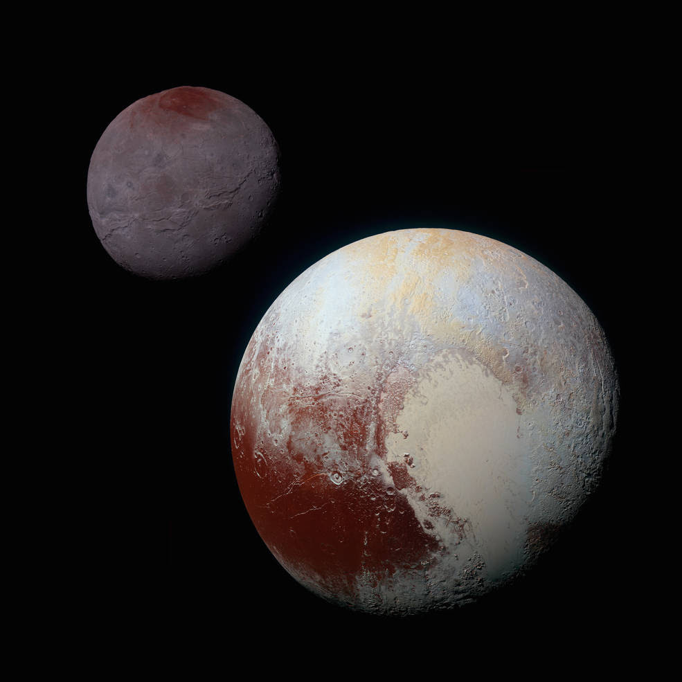 Pluto and it's moon Charon