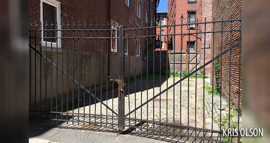 Easement to private way not extinguished by gate