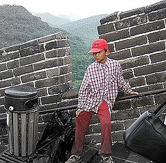 [photo of boy on the Great Wall]