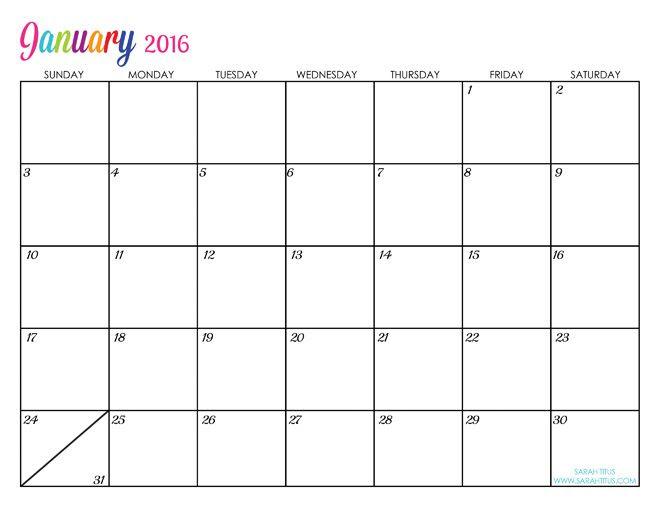 Custom Editable Free Printable 2016 Calendars   2016 calendar ...