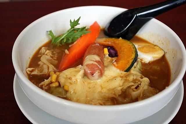 Italian Sausage and Hokkaido Corn Soup Curry