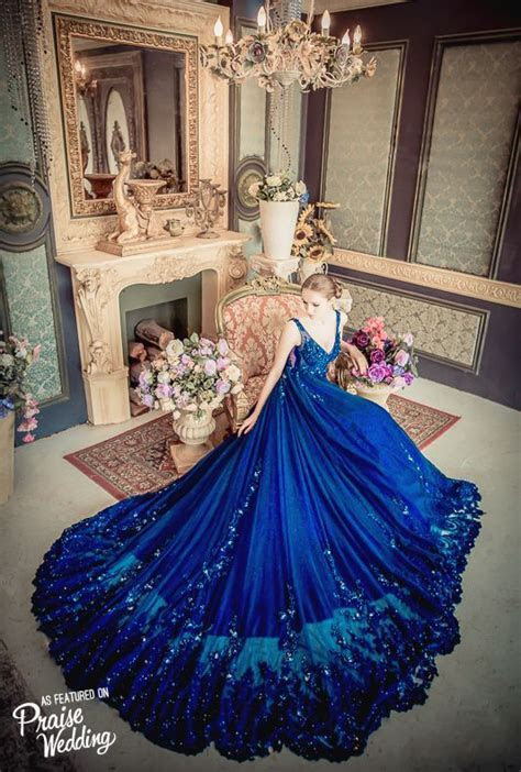 This stunning starry night blue gown from No.9 Wedding