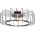 Access lighting 23892LEDDLP-BL 9 x 23.25 in. Wired 1-Light Horizontal Cage Flush Mount Black