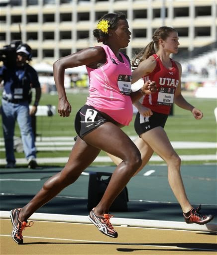 34 Weeks Pregnant? No Sweat. Runner Competes at U.S. Track and Field Championships