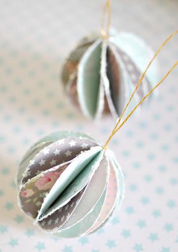 handmade paper baubles | Shelterness