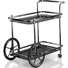 Furniture of America AGOR Contemporary Black Kitchen Cart (Black)