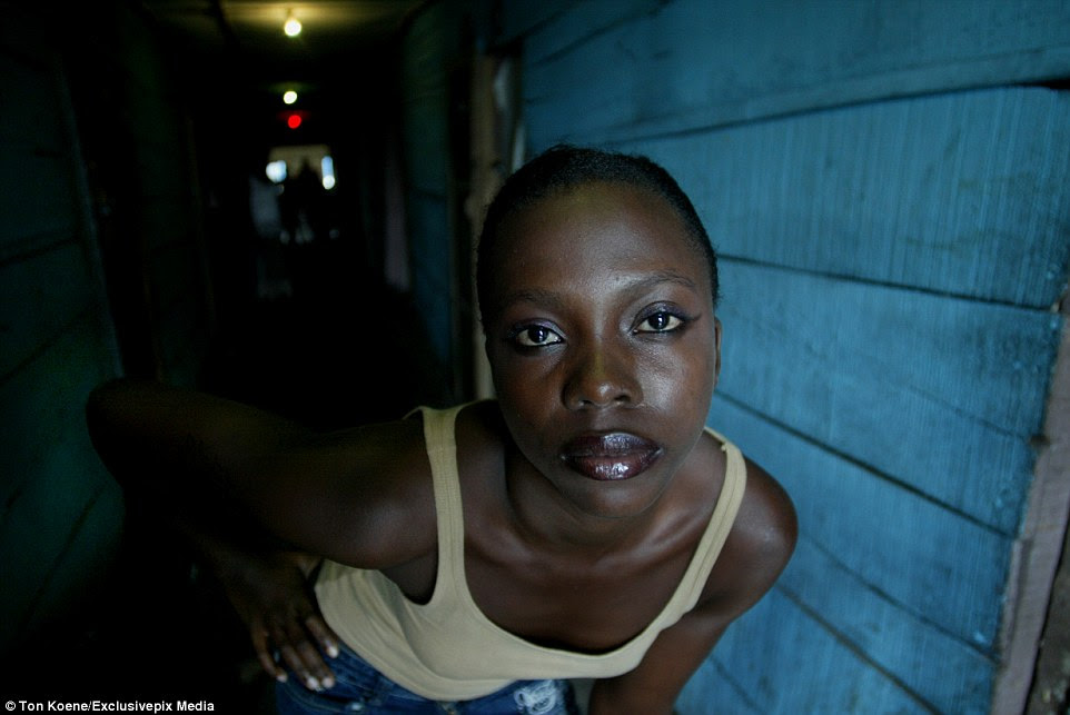 The photo series shows sex workers in the slum in Lagos, the largest city in Nigeria