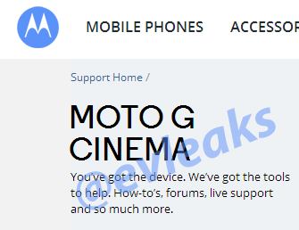 Moto G Cinema leak