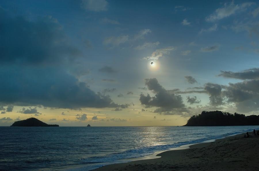 Έκλειψη ηλίου πάνω από  το Queensland της Αυστραλίας.