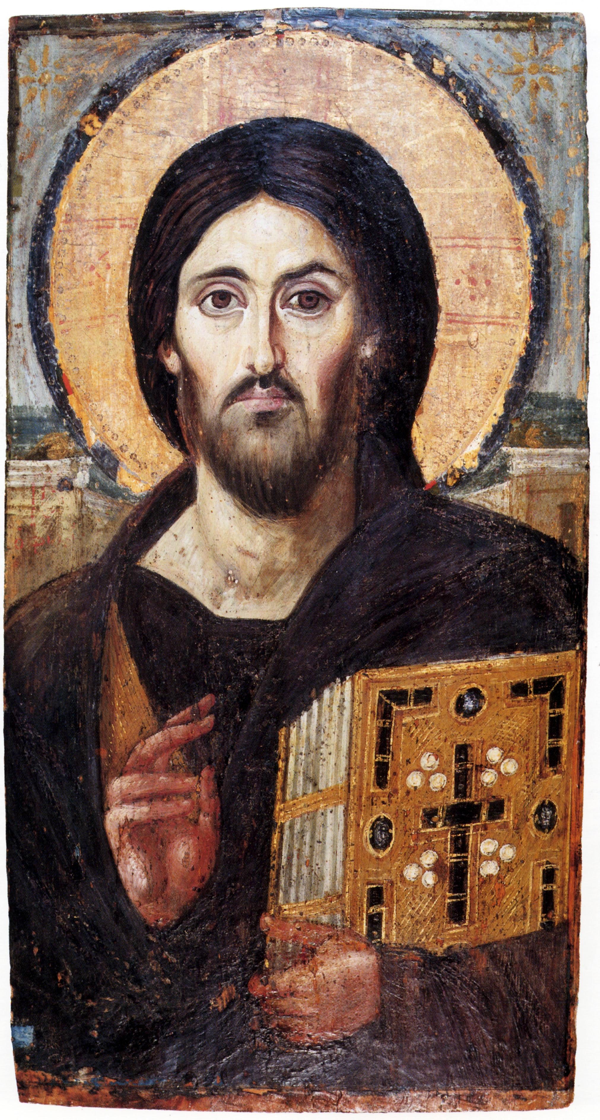 Jesus de Nazaré, O mais antigo painel iconográfico do Cristo Pantocrator, datado do século VI
