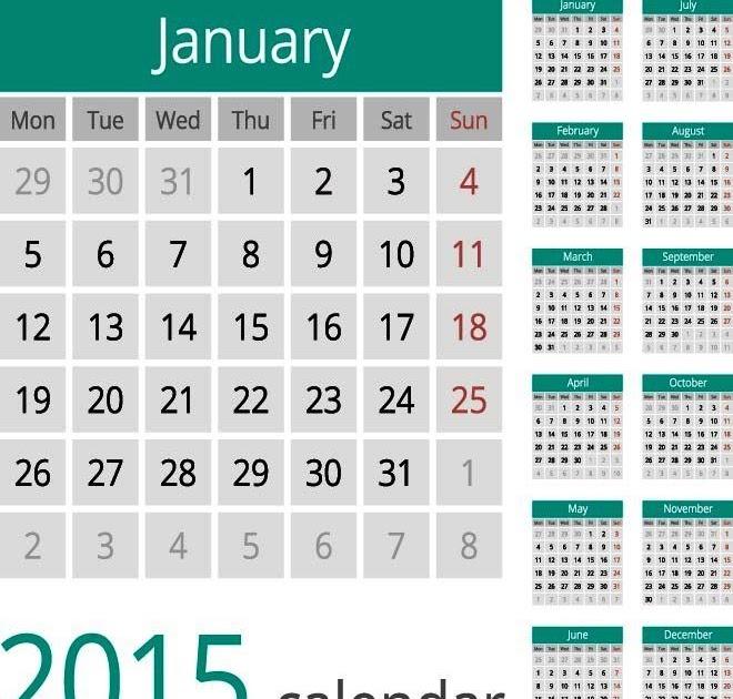 49+ Inspirasi Desain Kalender Dinding Unik, Desain Kalender