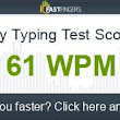I can type 61 words per minute. Are you faster?