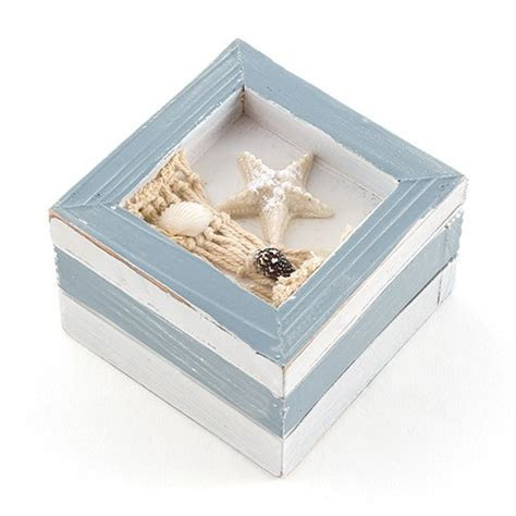 Beach Theme Wooden Favor Boxes   The Knot Shop