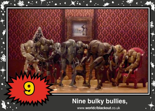 On the tenth Wookiee Life Day, the Dark Side gave to me: Nine bulky bullies...