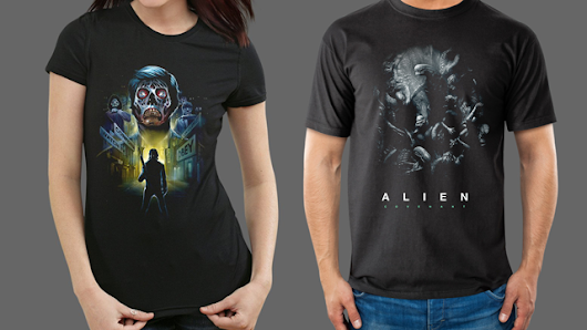 Xenomorphs Live! ALIEN: COVENANT + THEY LIVE Apparel Now Available from Fright-Rags