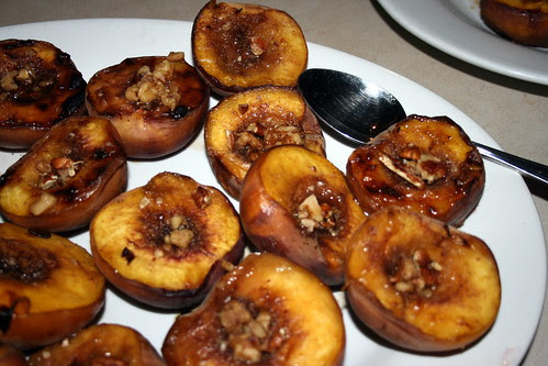Plate of Grilled Peaches