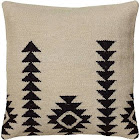 Rizzy Home Woven Southwestern Patten Decorative Pillow, Ivory/Black