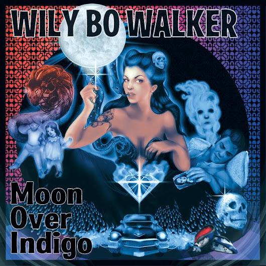 "Wily Bo Walker on Twitter: ""Confessions of an opium eater - 'Moon Over Indigo' the new @wilybo solo album due Sept 2015! Artwork by @zhanadarte """