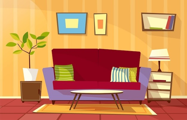 Awesome Aesthetic Anime Christmas Living Room Background Photos