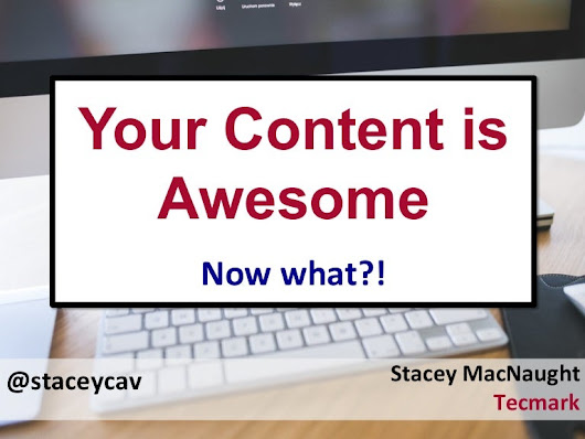 Your Content is Awesome – Now What? By @staceycav at #brightonseo