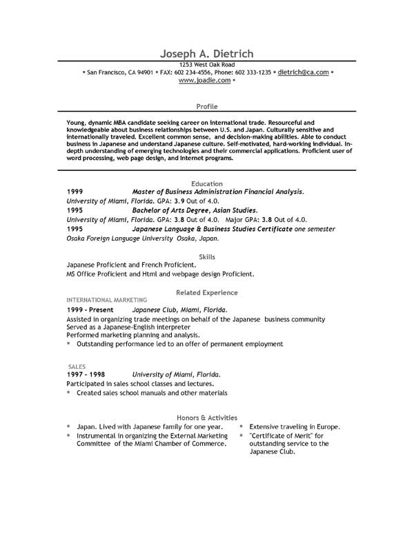 Free Resume Template Downloads  EasyJob