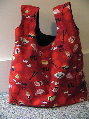Sushi singlet shopping bag