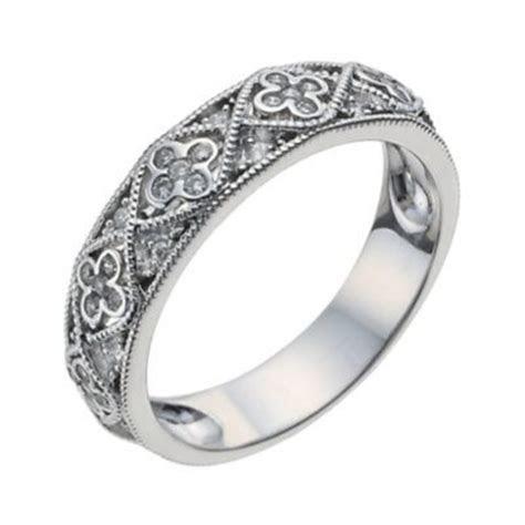 18ct white gold 15 point diamond vintage ring   Ernest