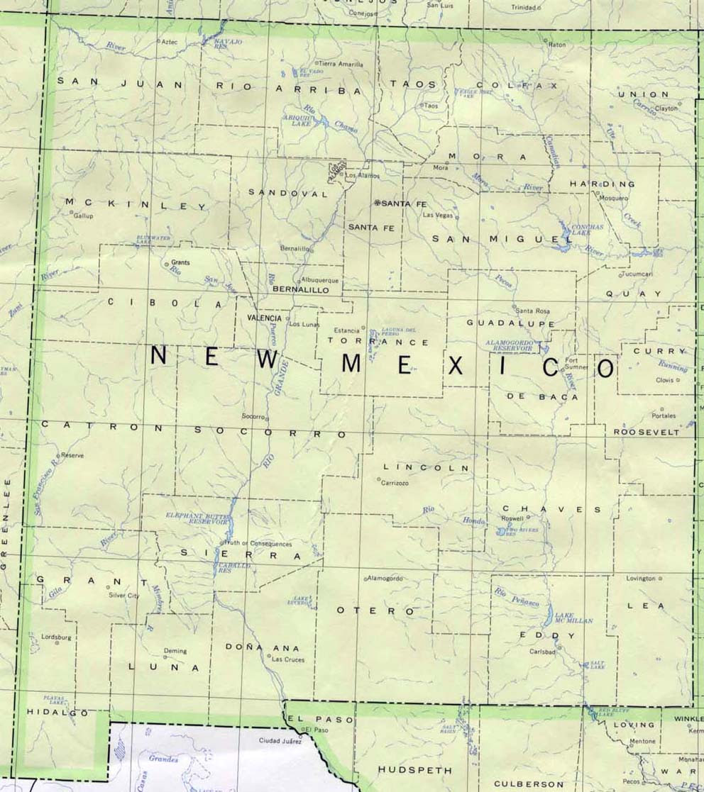 New Mexico Maps Perry Castaneda Map Collection Ut