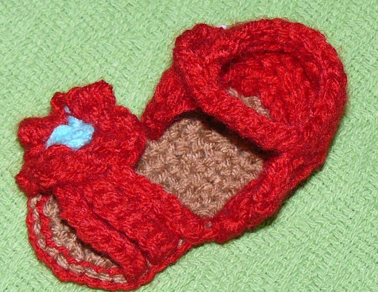 Custom Made Crochet Baby Sandals - Three Straps and Flower - You CHOOSE the COLOR
