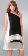 L.A.M.B. Chiffon Frame Dress