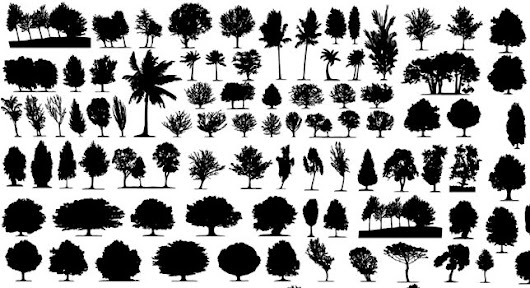Vector Tree Silhouettes - 365psd