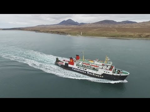 Watching an Islay ferry from the air