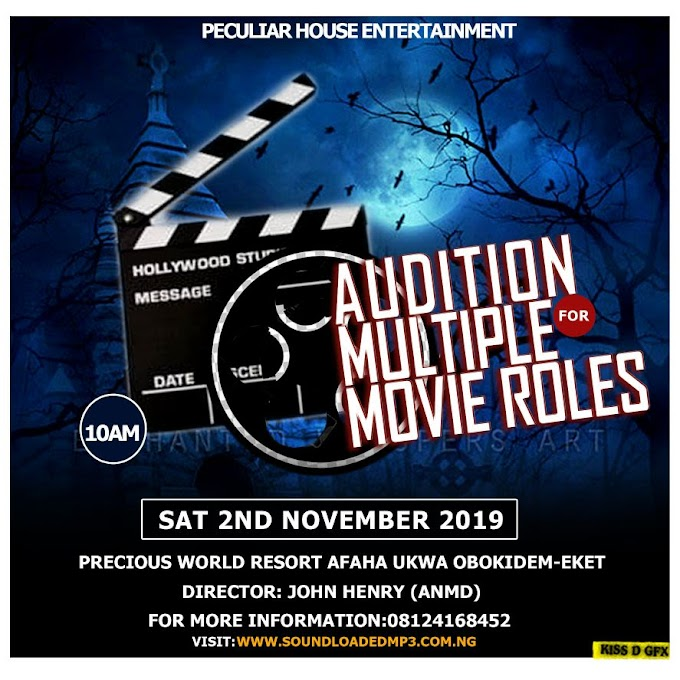 Peculiar House Entertainment hits Eket again with another Audition