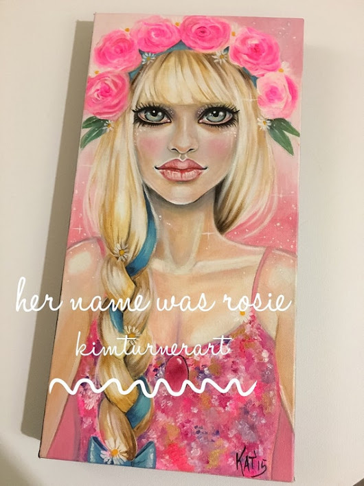 Fashion Painting Her name was Rosie original by KimTurnerArt