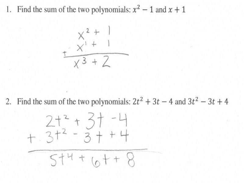 Operations with Polynomials Worksheet  Homeschooldressage.com