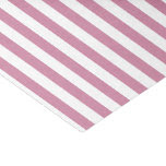 "White Stripes and Pink or DIY Background Color 10"" X 15"" Tissue Paper"