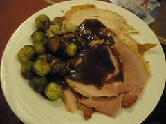 Turkey, ham, sprouts & gravy
