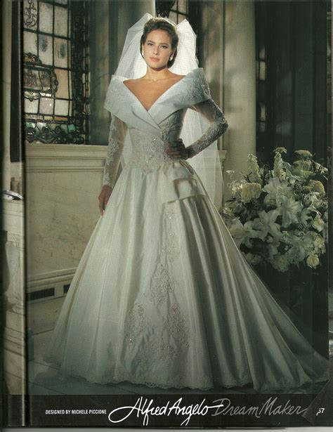 Portrait Collar on an Alfred Angelo bridal gown from the