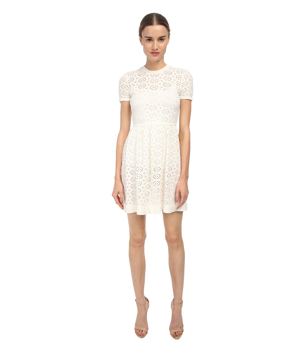 See by Chloe - Elastic Waist S\/S Dress (White) Women's Dress