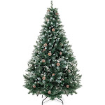 Best Choice Products 7' Hinged Artificial Christmas Tree Holiday Decor, Green
